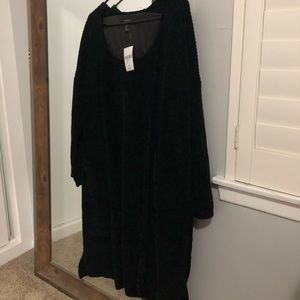 Black chenille cardigan from forever 21 with tag